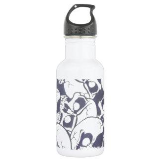 cracked skulls stainless steel water bottle