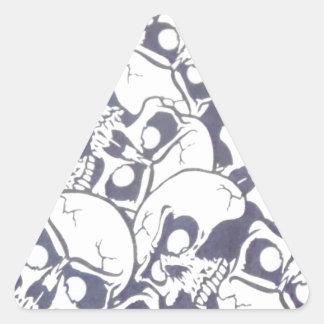 cracked skulls triangle sticker