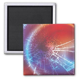 Cracked Solar Flare Magnet
