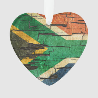Cracked South African Flag Peeling Paint Effect