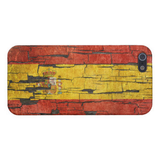 Cracked Spanish Flag Peeling Paint Effect Case For iPhone 5