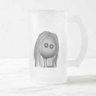 Cracked Statue 3D Bonga Doll Halftone - GREY B&W Coffee Mug
