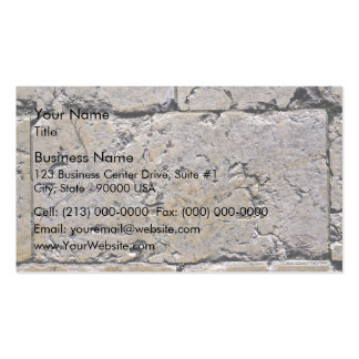 Cracked Stone Wall Close-Up Business Card