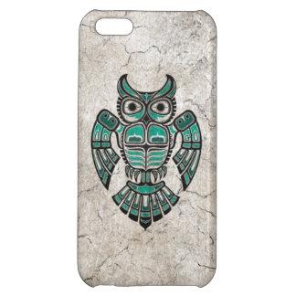 Cracked Teal Blue Haida Spirit Owl iPhone 5C Cover