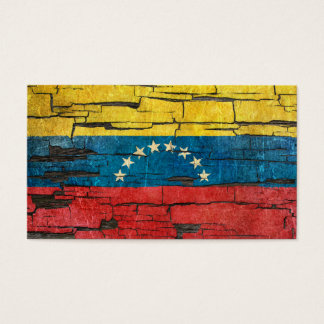 Cracked Venezuelan Flag Peeling Paint Effect Business Card