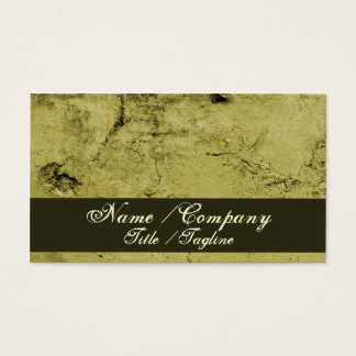 Cracked Wall Pattern Green Business Card