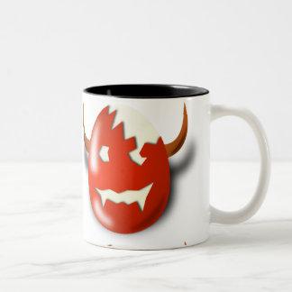 Cracked Wicked Easter egg Two-Tone Coffee Mug