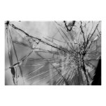 Cracked Windshield B&W Posters