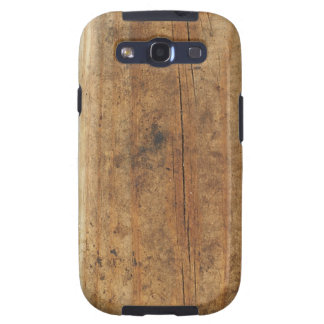 Cracked Wood Plank Texture Samsung Galaxy S3 Case