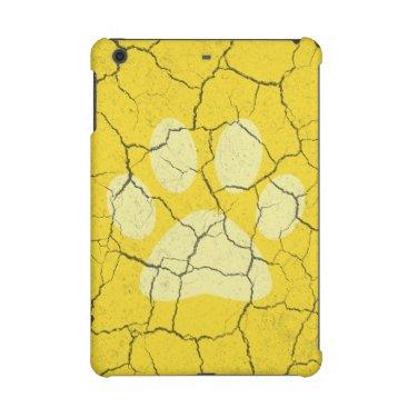 Cracked Yellow  Paw Print iPad Mini 2  3 Case iPad Mini Case