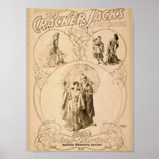 Cracker Jack's, 'Del-Zarlos' Retro Theater Print