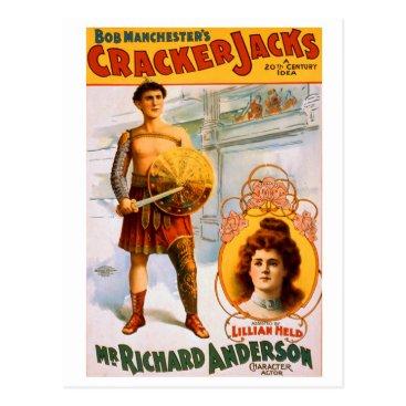 USA Themed Cracker Jacks Postcard