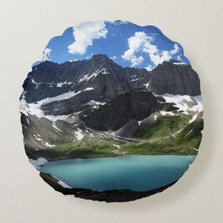 Cracker Lake Round Pillow