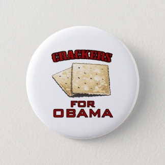 Crackers for Obama - Customized Button