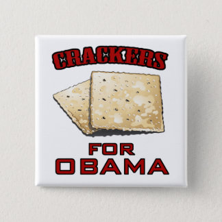Crackers for Obama Pinback Button