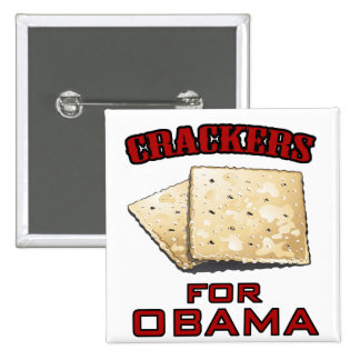 Crackers for Obama Pinback Buttons
