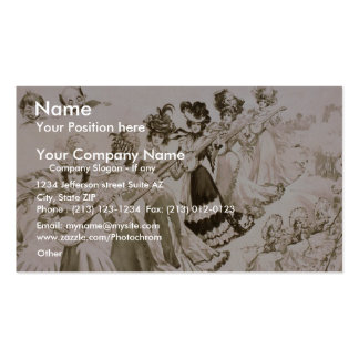 Crackers Jacks, 'The Musical Students' Vintage The Double-Sided Standard Business Cards (Pack Of 100)