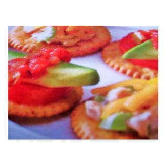 crackers n toppings postcard