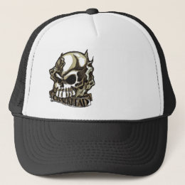 CRACKHEAD TATTOO INSPIRED SKULL FIRE SMOKE HAT