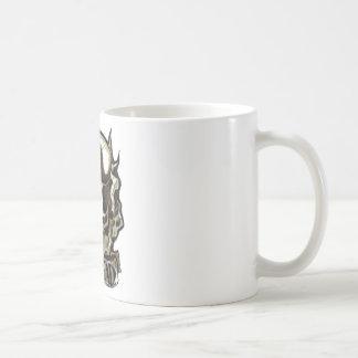 CRACKHEAD TATTOO SKULL  COFFEE JUNKY MUD JAVA MUG
