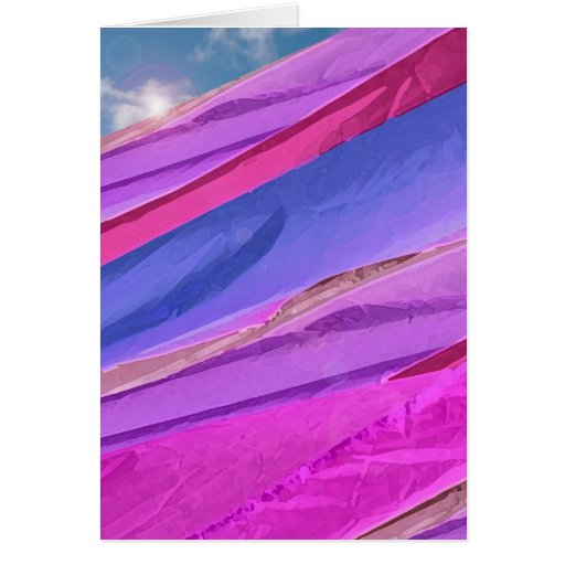 Crackin' the Flags Abstract Note Card