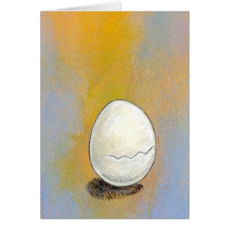 Cracking - beautiful egg potential art CUSTOMIZE Greeting Cards