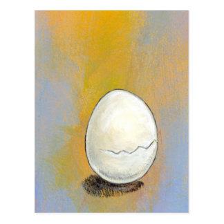 Cracking - beautiful egg potential rebirth art postcard
