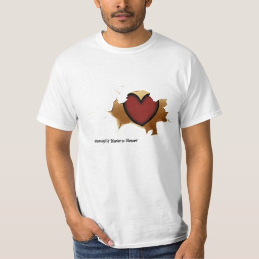 Cracking T-Shirt showing Heart