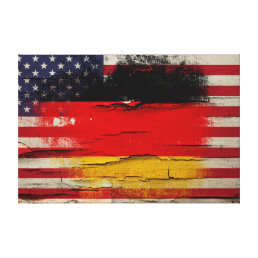Crackle Paint | German American Flag Canvas Print