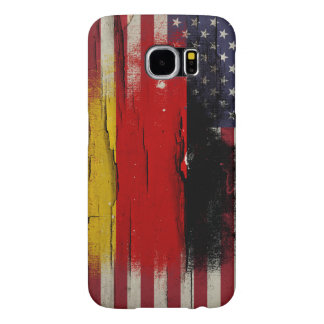 Crackle Paint   German American Flag Samsung Galaxy S6 Cases