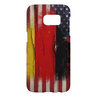 Crackle Paint | German American Flag Samsung Galaxy S7 Case