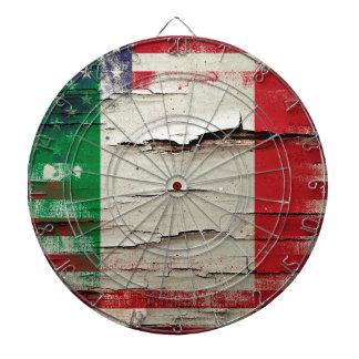 Crackle Paint | Italian American Flag Dartboards