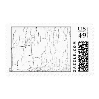 Crackle paint postage
