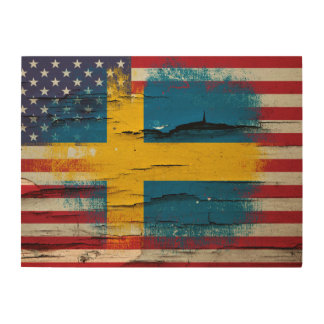 flag wood wall art zazzle ForPainted American Flag Wall Art