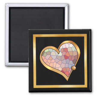 Crackle Pattern Collection -  01 2 Inch Square Magnet