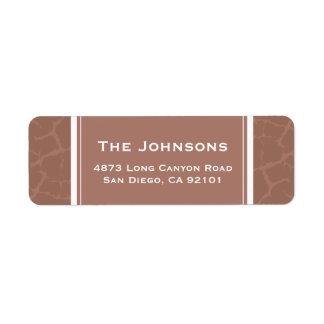 Crackle Print Custom Return Address Label