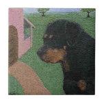Crackle Rottie Tile
