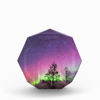 Crackle Texture Art Northern Lights Sky Alaska Acrylic Award