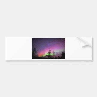 Crackle Texture Art Northern Lights Sky Alaska Car Bumper Sticker