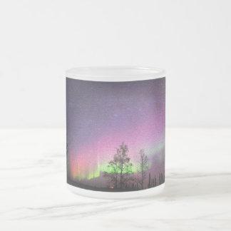 Crackle Texture Art Northern Lights Sky Alaska Frosted Glass Coffee Mug
