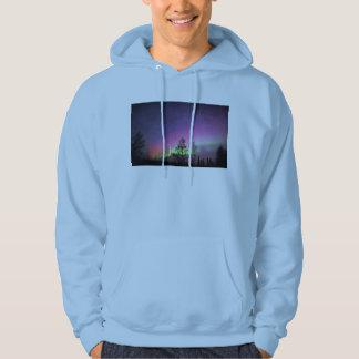 Crackle Texture Art Northern Lights Sky Alaska Hoodie