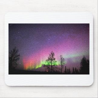 Crackle Texture Art Northern Lights Sky Alaska Mouse Pad