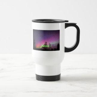 Crackle Texture Art Northern Lights Sky Alaska Mug
