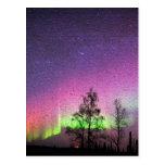 Crackle Texture Art Northern Lights Sky Alaska Post Cards