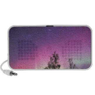 Crackle Texture Art Northern Lights Sky Alaska Mini Speakers