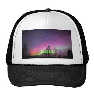 Crackle Texture Art Northern Lights Sky Alaska Trucker Hat