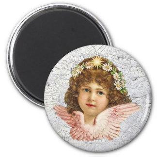 Crackled Angel 2 Inch Round Magnet
