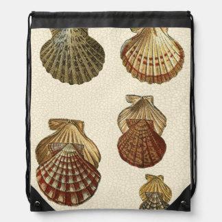Crackled Antique Shells Cinch Bag