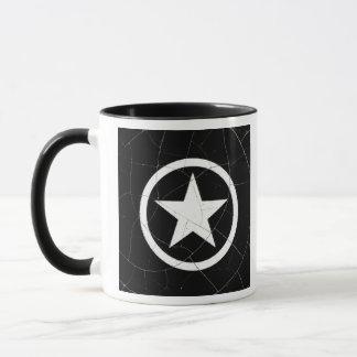 Crackled Black and White Army Star Mug