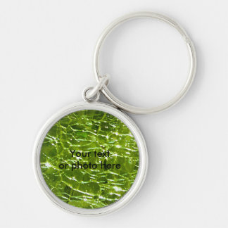 Crackled Glass Birthstone Design - August Peridot Keychain